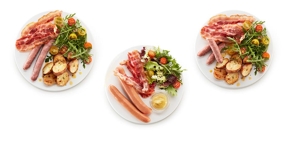 Salchicha & Bacon al Microondas